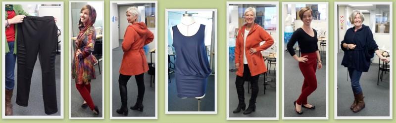 Sample of garments created in the Advanced Knitwear Module